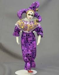 mardi gras jester dolls mini jester doll in purple mardi gras dolls