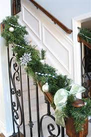 Banister Garland Ideas How To Decorate With Christmas Garland And Live Greenery