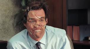 Dumb Face Meme - yes man jim carrey s disfigured face people i d like to meet
