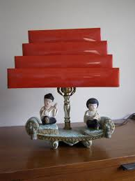 Red Table Lamps For Living Room by Accessories Impressive Image Asian Girl And Boy Table Lamp And