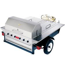 crown verity bbq grill towable radiant style l p gas tg 1