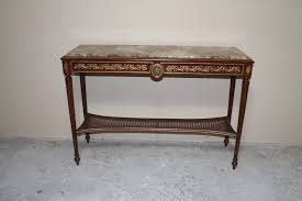 sofa console table long marble top brass decorated console table long and narrow hall table