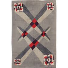 Deco Rugs Vintage French Art Deco Carpet Designed By Pierre Cardin For Sale