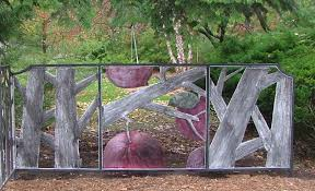 ornamental screen aluminum relief with metal dye sculpture by