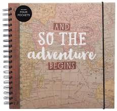 travel photo albums whsmith adventure begins travel scrapbook album hardback cover 50
