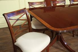 Double Pedestal Dining Table American Made Double Pedestal Mahogany Dining Table