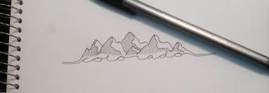 colorado mountain range tattoo design drawing u003c3 places i u0027d