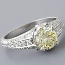 fancy yellow diamond engagement rings yellow diamond engagement ring