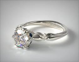 bezel ring sapphire bezel diamond engagement ring 14k white gold 17016w14