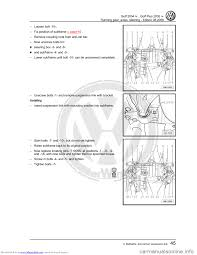 volkswagen golf 2004 1j 4 g running gear axles workshop manual