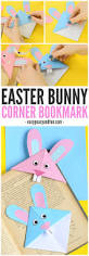 easter bunny corner bookmark diy origami for kids easy peasy
