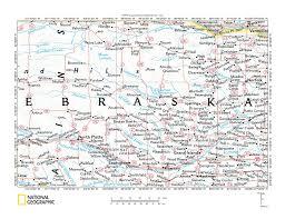 Map Of Counties In Nebraska Loup River Drainage Basin Landform Origins Nebraska Usa
