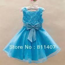 light blue dresses for kids 2015 baby wedding party dresses gorgeous princess dress