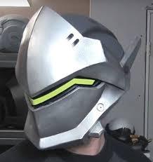genji overwatch helmet pepakura file paper and foam