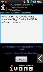 text to speech engine apk ivona text to speech hq apk for android