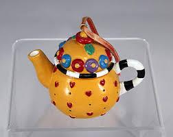 tea pot ornament etsy