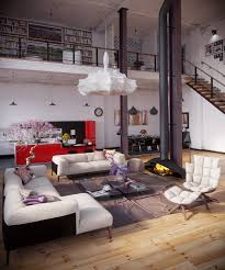 industrial loft with organic traits visualized