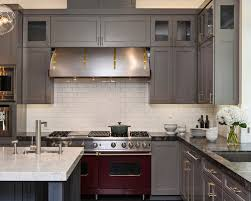 Colors For Kitchen Cabinets by Grey Cabinets And Dark Counters Houzz