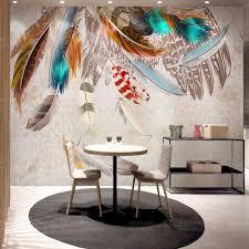 online get cheap feather wall mural aliexpress com alibaba group european vintage 3d abstract wallpaper feather photo wall mural wall paper for living room papier peint