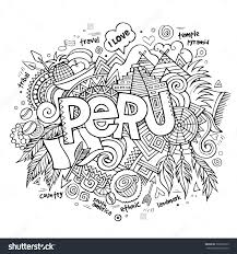 peru black and white clipart collection