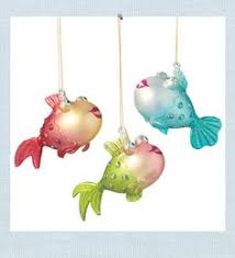 blue disco fish ornament l katherine s collection