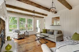 White Ceiling Beams Decorative by Wood Beams On Ceiling Porch Transitional With Four Season Porch