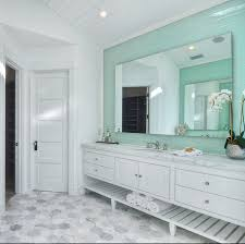 coastal bathroom designs hex floors coastal bathroom with marble hex floors and subway tile
