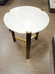 nate berkus for target gold accent table with marble top for the