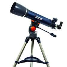 celestron astro master 102az refractor telescope with finderscope
