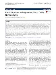 Sho Metal Yang Asli plant response to engineered metal oxide pdf available