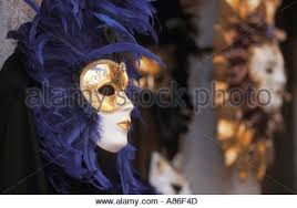 mardi gras mask for sale carnival masks for sale in a shop window in venice italy stock