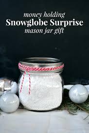 gift card snow globe snowglobe money holding gift jar jar crafts and gift