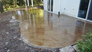 Stain Concrete Patio by Leo Concrete Stamped Concrete Gallery