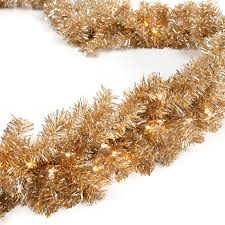 classic chagne gold 9 ft pre lit garland walmart