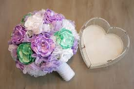 Silk Wedding Bouquet Best Diy Wedding Bouquet Part 2 Bouquet Assembly Youtube
