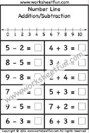 subtraction u2013 number line free printable worksheets u2013 worksheetfun