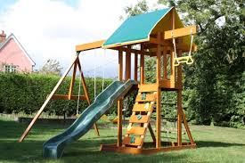 meadowvale climbing frame children u0027s wooden playset