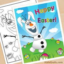 printable frozen olaf easter poster coloring