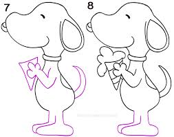 draw snoopy step step pictures cool2bkids