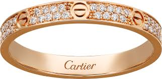 cartier rings images Crb4218100 love ring sm pink gold diamonds cartier png