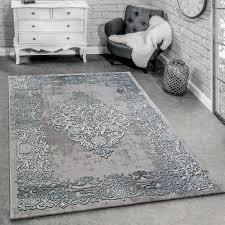 tappeto design moderno tappeto di design moderno soggiorno 3d motivo barocco in grigio