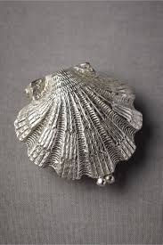 acrylic fish ring holder images Anthropologie weddings squeal silvery seashell ring holder in jpg