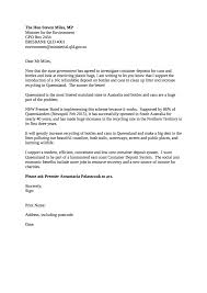 example of a letter for the qld environment minister boomerang