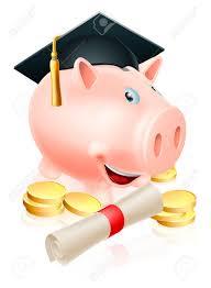graduation piggy bank happy piggy bank with graduation cap and diploma scroll