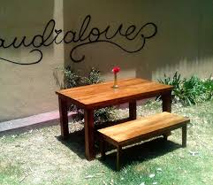 Patio Furniture With Pallets - pallet outdoor table with bench 99 pallets