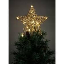 kurt s adler 10 light 5 point ivory and gold capiz star tree