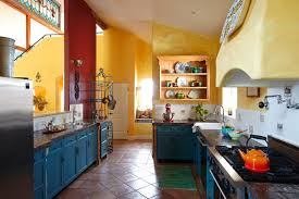 blue painted cabinets houzz