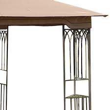 10 X 10 Gazebo Canopy Cover by Replacement Canopy For Steel Frame 10x10 Riplock 350 Garden Winds