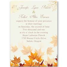 fall wedding invitations fall leaves wedding invitations ewi248 as low as 0 94