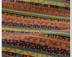Striped Drapery Fabric Bohemian Fabric Etsy